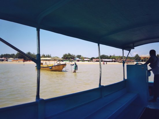 Tanjung Benoa, Indonesia: The turtle island - view from boat