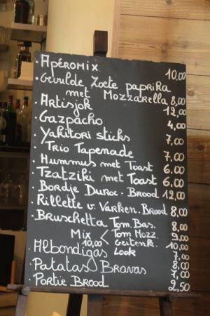 Oudenaarde, Belgium: bord binnen