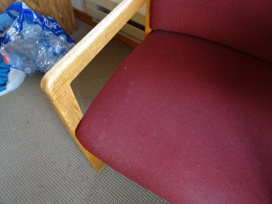 Old Faithful Snow Lodge and Cabins: chairs stained
