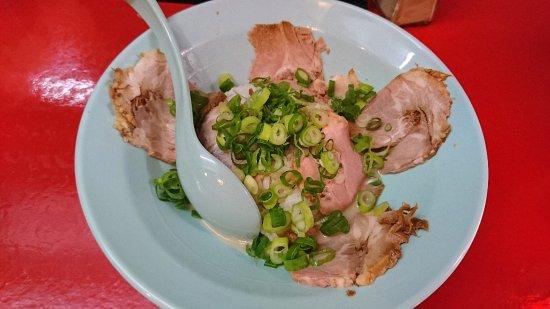 Ibaraki, Japan: 豚骨スープのかかった叉焼丼