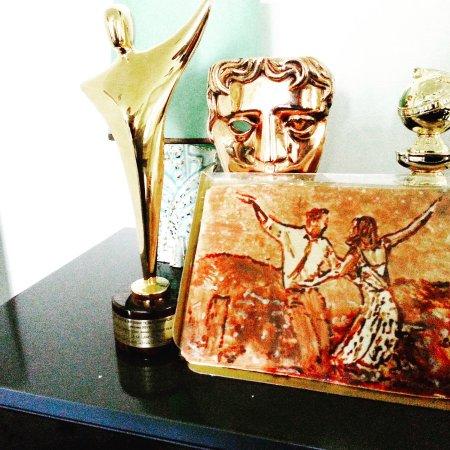 "Westport, CT: Hand painted chocolate portrait of Oscar nominated ""La La Land"""