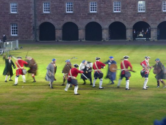 ‪‪Ardersier‬, UK: Re-enacting the battle of Culloden‬