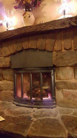 Yellow Deli: Fireplace