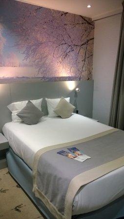 Hotel Les Jardins de Montmartre: vue du lit