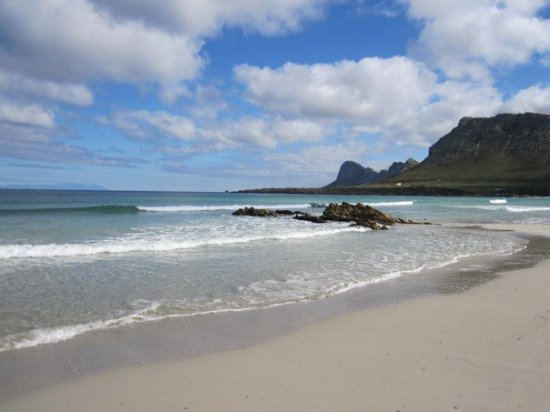 Pringle Bay beach in front of the guesthouse