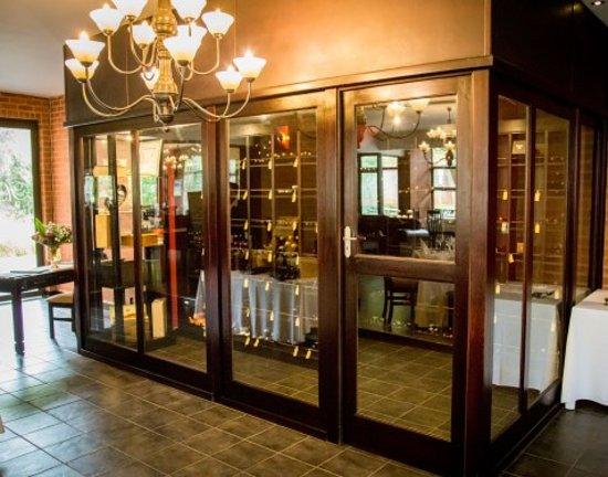 Hemingways restaurant wine cellar centurion for Walk in wine room