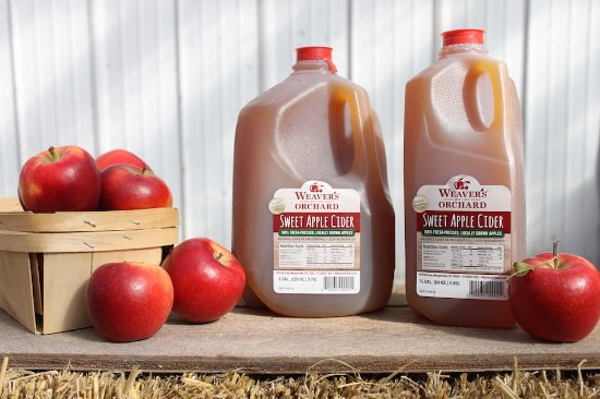 Morgantown, PA: Our award-winning apple cider is preservative-free and made with our own apples.