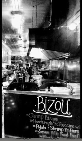 Bizou: Open line kitchen- the nerve center of our operation!