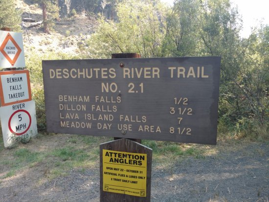 Sunriver, OR: Trail Marker