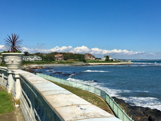 Newport Mansions: Ocean View From Rosecliff Mansion
