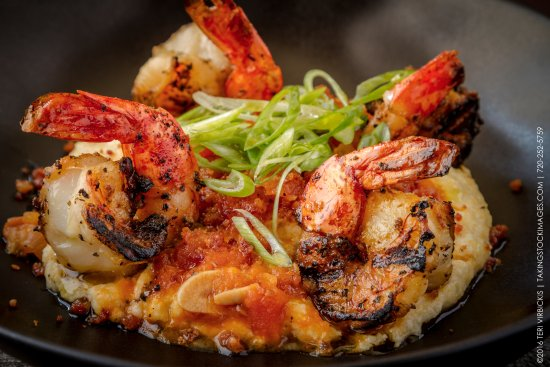 Castle Rock, CO: Grilled Jumbo Shrimp with Creamy Polenta