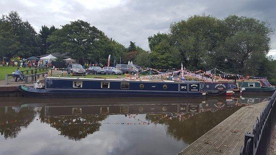 Winsford, UK: Barges at Salt Fair