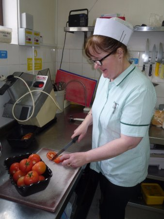 Ballycastle, UK: Chef Eileen says its tomato soup today