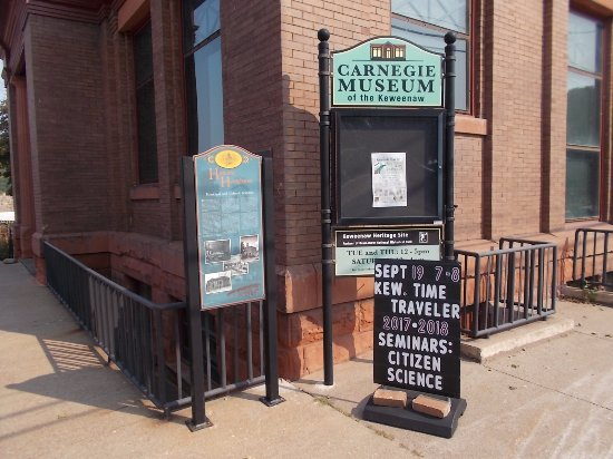 Carnegie Museum, Houghton, MI. Closed when we visited.