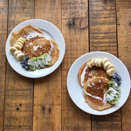 Wadebridge, UK: Vegan pancakes for two :)