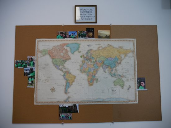 Jamestown, Нью-Йорк: Our where have you been map.