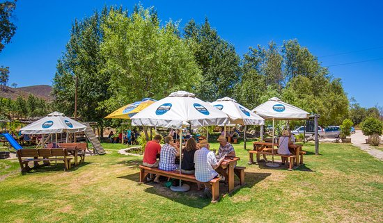 A relaxed way to spend a day in the Robertson Valley with a cold beer and great friends