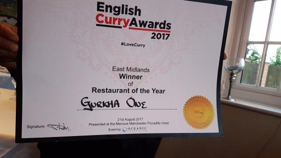 Rolleston, UK: English Curry Award