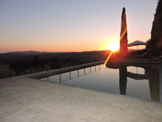 Castello Banfi - Il Borgo: Sunset at the pool, Castello Banfi