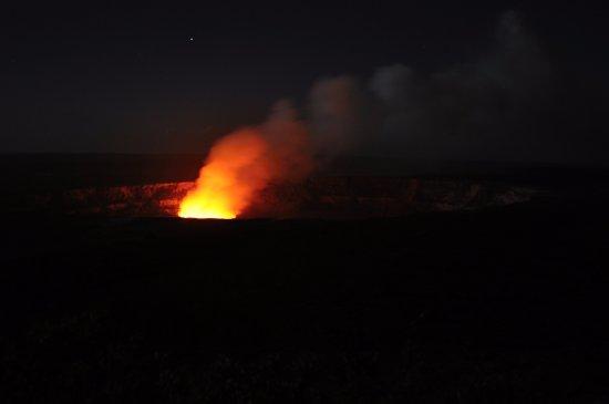 Keaau, Havai: The crater at night