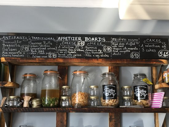 Sandbach, UK: Selection of six appetiser boards ranging from traditional English to Fritto misto!