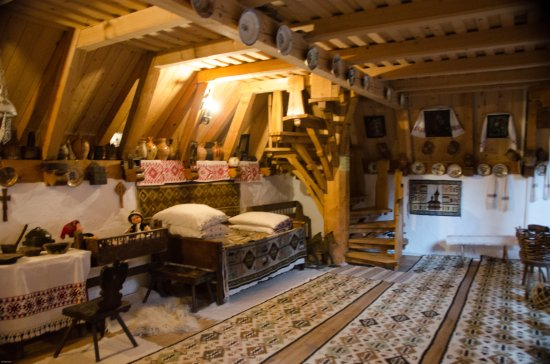 Maramures County, Romania: Interior of gilt shop/museum