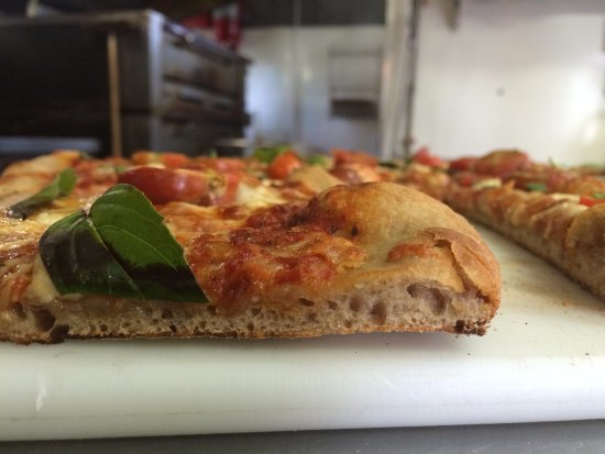 Schuylerville, NY: Our sourdough crust is made from NYS organic flour from Farmer Ground Flour.