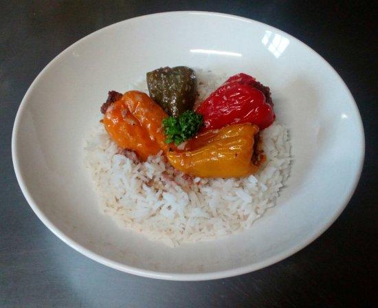 Seine-et-Marne, Francia: Minis poivrons doux farcis et riz basmati