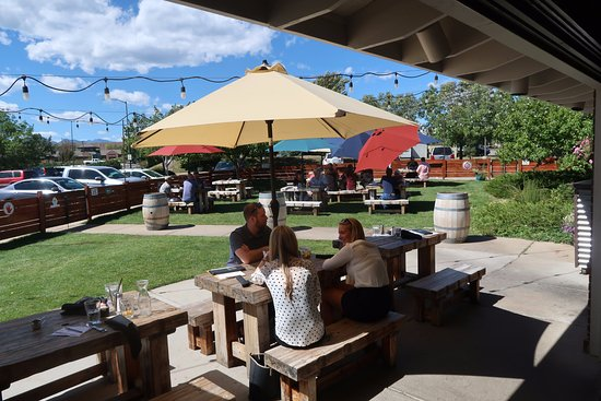 Louisville, CO: The outdoor seating area