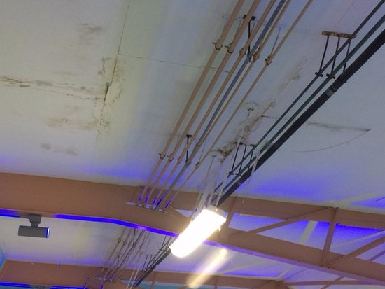 Montpelier, VT: Caving in, falling apart ceiling at pool