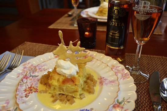 Clayton, GA: Gayle Bread Pudding with Caramel Shards
