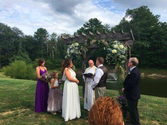 York, ME: Summer wedding ceremony at our Pond Venue