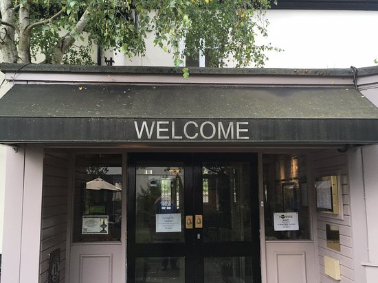 Bell Hotel: Welcome (to a mouldy awning)