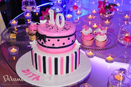 Delano Lounge Restaurant Birthday Party Decoration