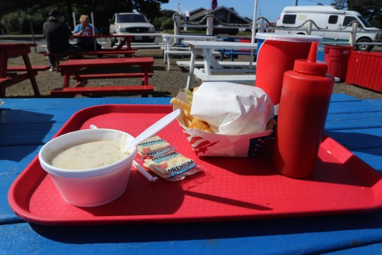 Ocean Shores, WA: Clam chowder (small)
