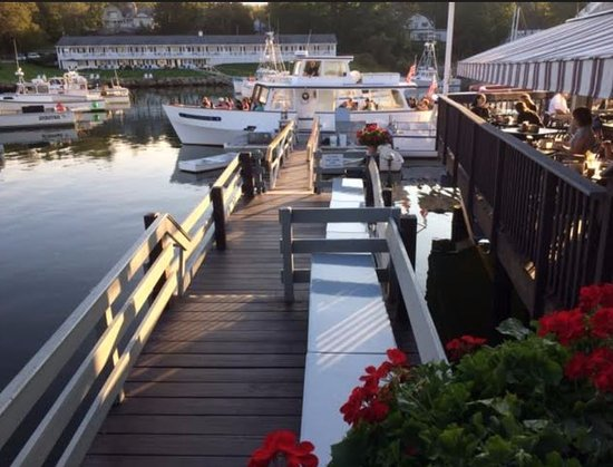 Finestkind Scenic Cruises: Photo of the boat and adjacent restaurant