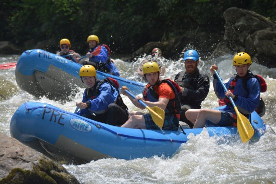 Friendsville, MD: Going down the rapids