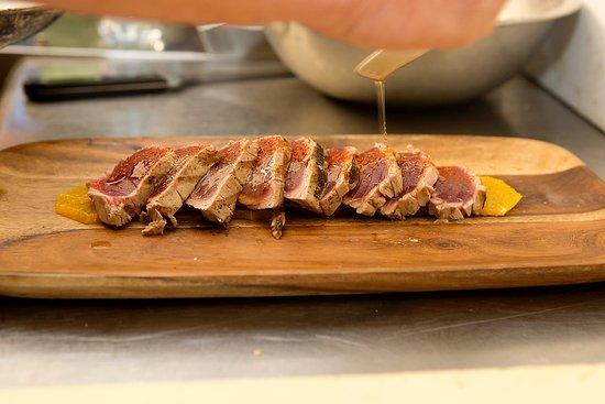 Bourne, MA: Sushi Grade Yellowfin Tuna