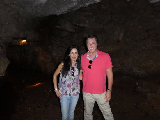 Adams, TN: ROSARIO CASSATA AND CAROLYN AT THE BELL WITCH CAVE IN TENNESSEE