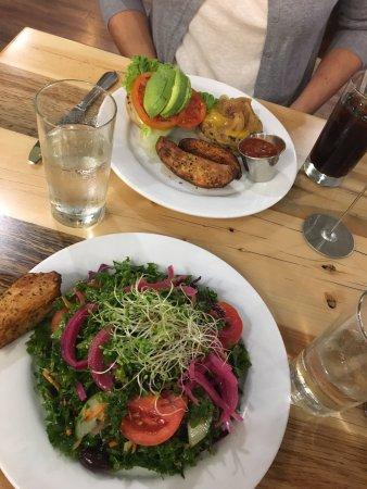 Hadley, MA: Kale salad and Pulseburger