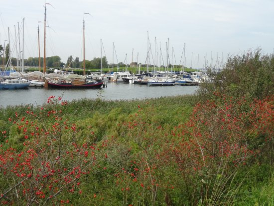 Muiden harbour at the mouth of the Vecht River