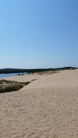 Mears, MI: Sand Dunes view of Silver Lake