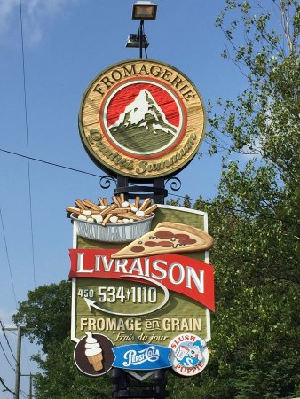 Bromont, Kanada: Enseigne du restaurant