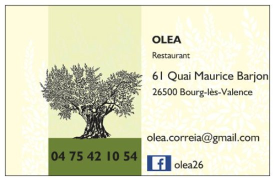 Bourg-les-Valence, France: Carte de visite.