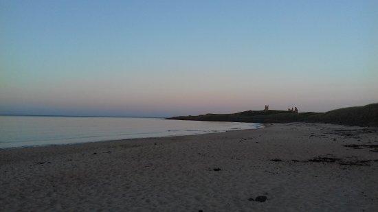 Beautiful evening colours at Embleton beach.