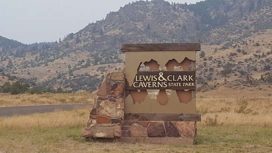 Lewis and Clark Caverns State Park: The sign is almost 4 mils from the caverns