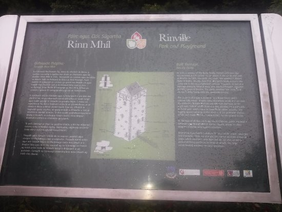 Оранмор, Ирландия: Information Point about Rinville Castle
