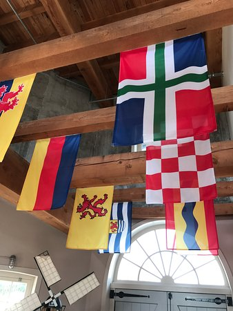 Little Chute Windmill - Dutch flags