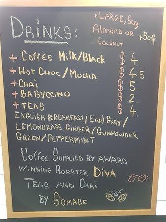 Prahran, Australia: drink menu