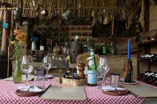 San Juan la Laguna, Guatemala: Table setup!